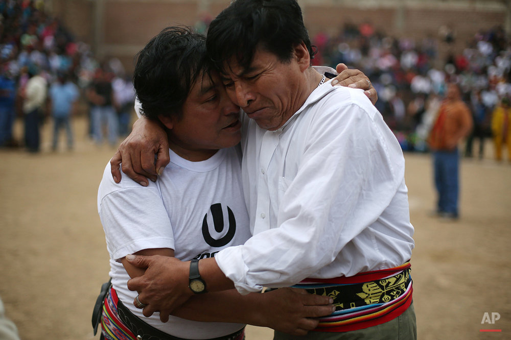 APTOPIX Peru Ritual Fighting Photo Gallery