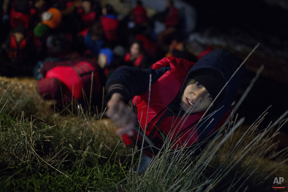 Greece Migrants Winter Crossing