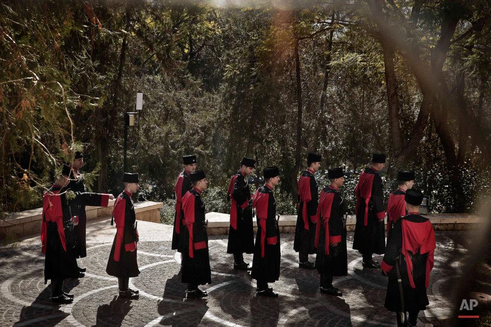 Mideast Jordan Circassian Guards