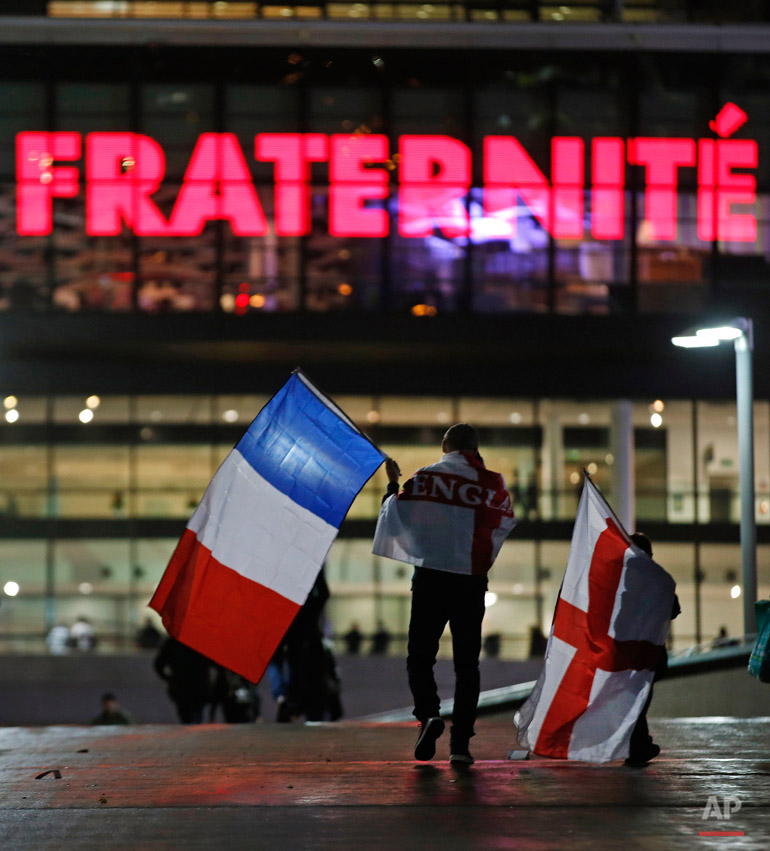 APTOPIX Britain England France Soccer Paris Attacks