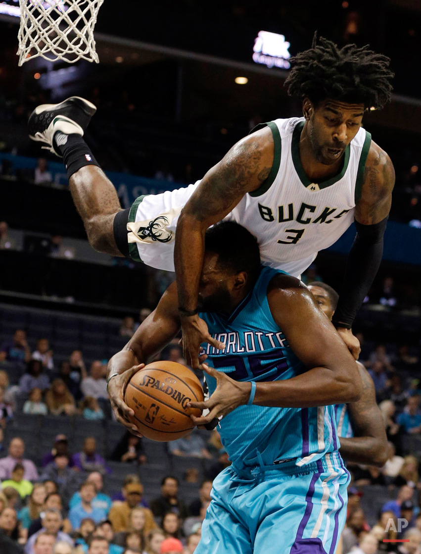 APTOPIX Bucks Hornets Basketball