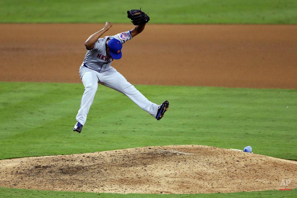 APTOPIX NLDS Mets Dodgers Baseball