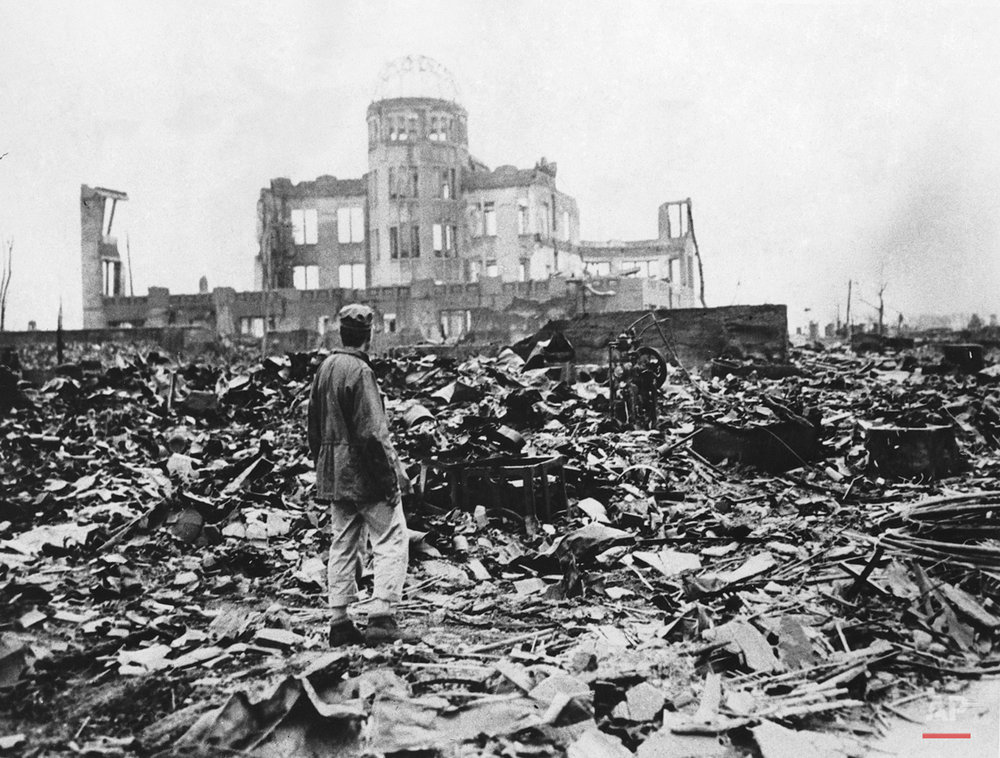 A huge expanse of ruins left the explosion of the atomic bomb on August 6, 1945 in Hiroshima. 140.000 people were killed.(AP Photo)