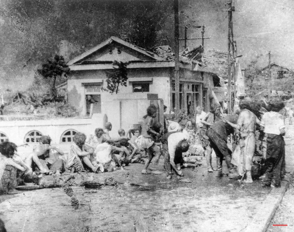 In this Aug. 6, 1945, photo, survivors of the first atomic bomb ever used in warfare are seen as they await emergency medical treatment in Hiroshima, Japan. On two days in August 1945, U.S. planes dropped two atomic bombs, one on Hiroshima, one on Nagasaki, the first and only time nuclear weapons have been used. Their destructive power was unprecedented, incinerating buildings and people, and leaving lifelong scars on survivors, not just physical but also psychological, and on the cities themselves. Days later, World War II was over. (AP Photo)