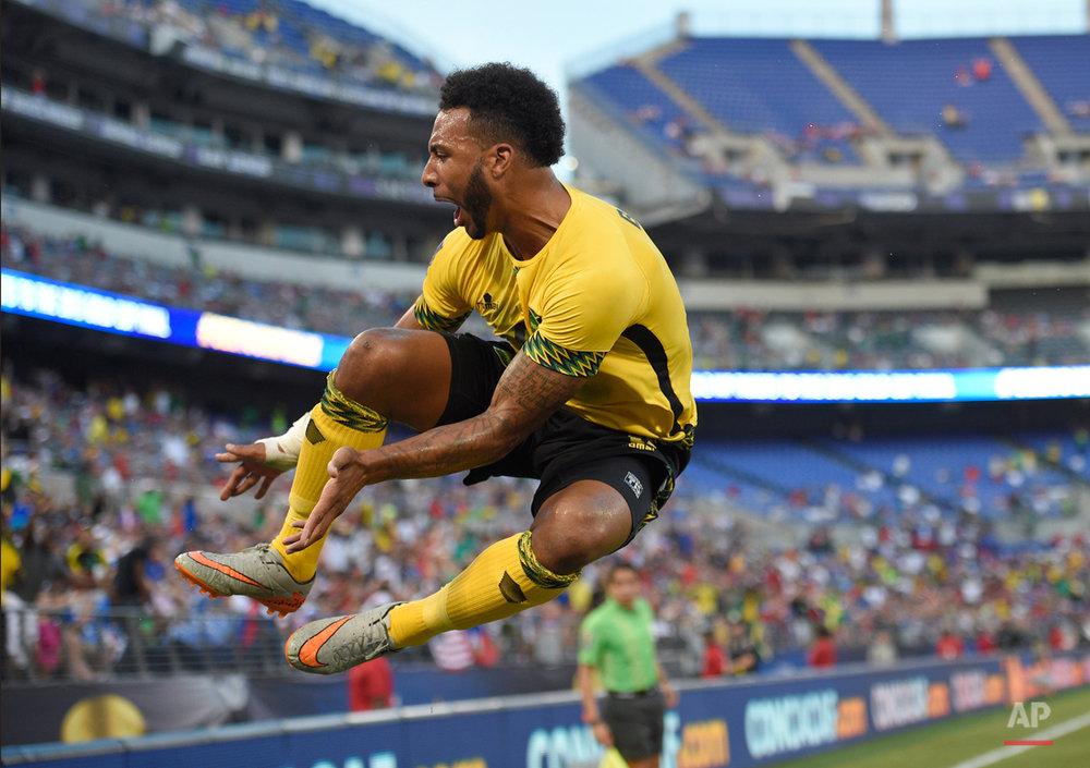APTOPIX Gold Cup Jamaica Haiti Soccer