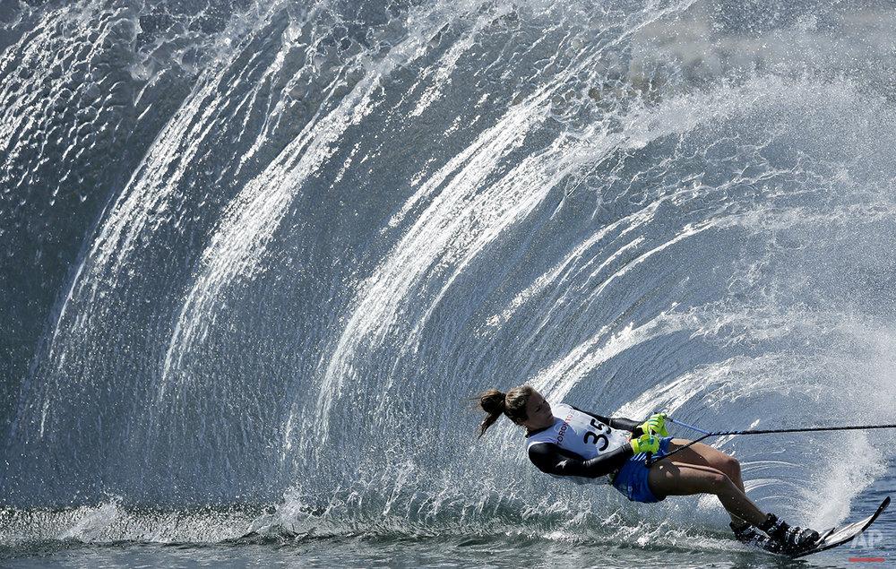 APTOPIX Canada Pan Am Games Womens Water Ski