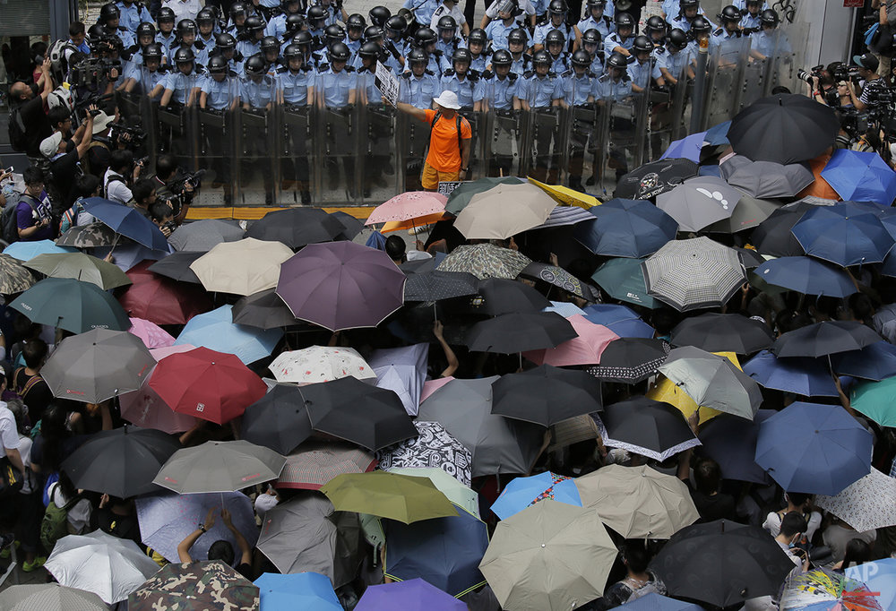 Hong Kong Umbrella Protest Sites Photo Gallery