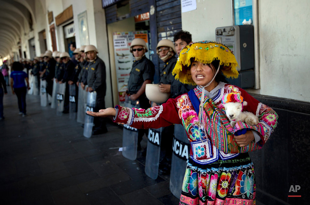 APTOPIX Peru Mining Protest