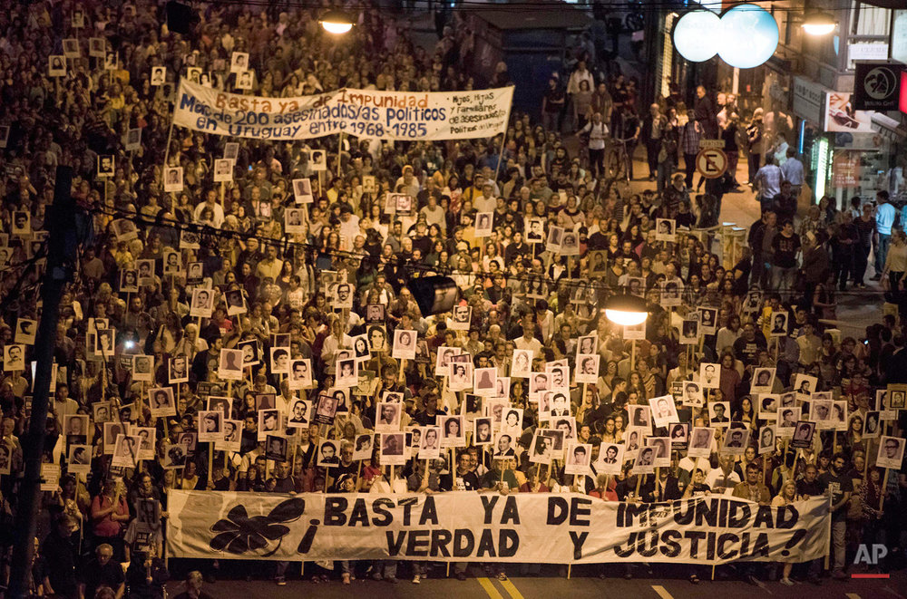 APTOPIX Uruguay Human Rights