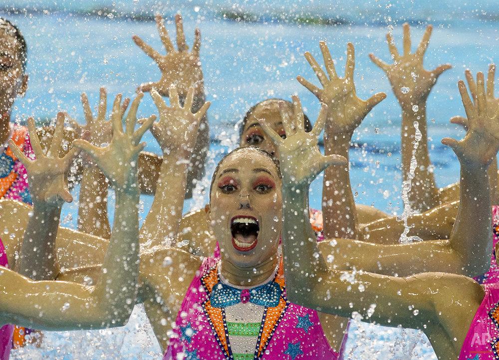 APTOPIX Canada Pan Am Games Synchronized Swimming