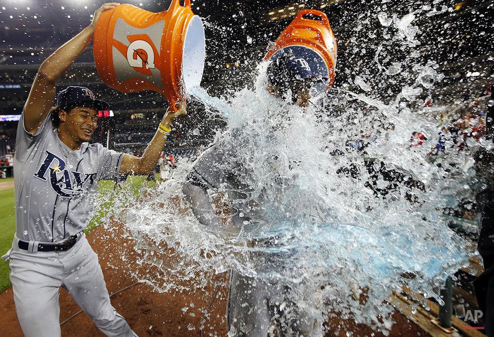 APTOPIX Rays Nationals Baseball