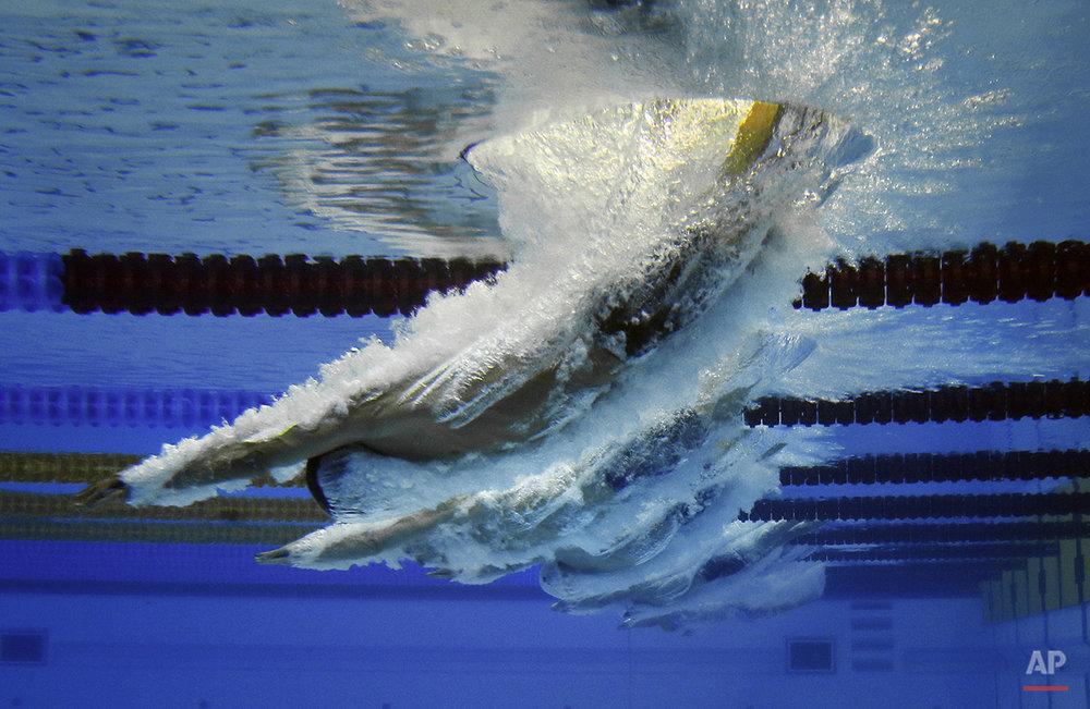 APTOPIX Azerbaijan European Games Swimming