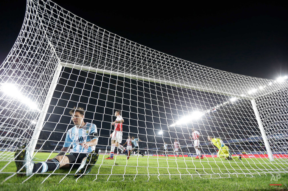 APTOPIX Chile Soccer Copa America Argentina Paraguay