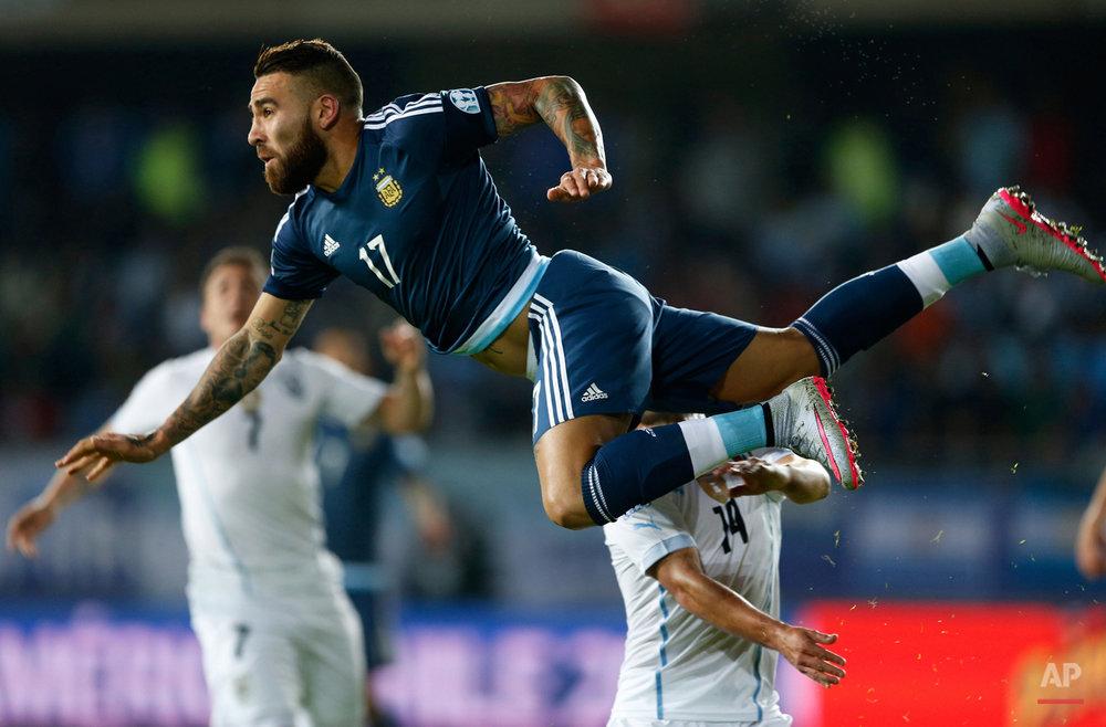 APTOPIX Chile Soccer Copa America Argentina Uruguay