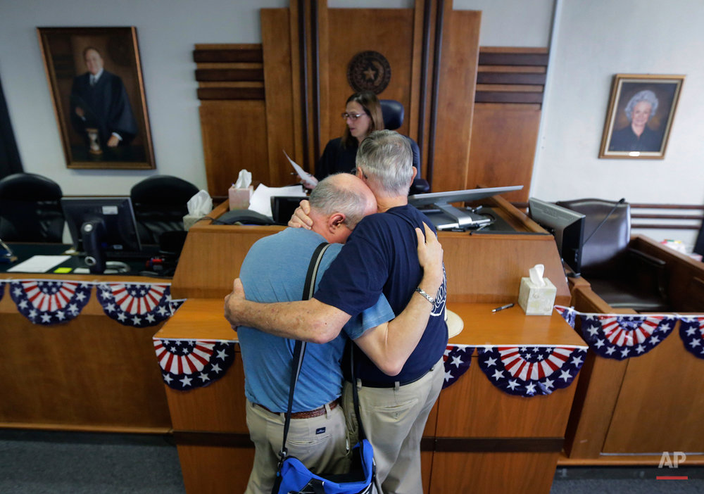 APTOPIX US Supreme Court Gay Marriage Texas