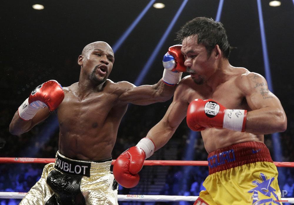 APTOPIX Mayweather Pacquiao Boxing