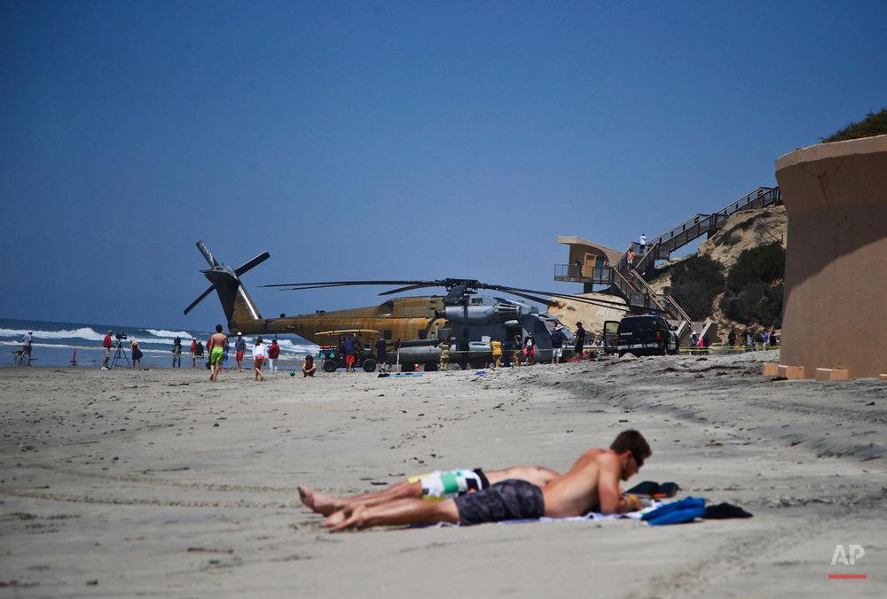APTOPIX Marine Helicopter Emergency Landing
