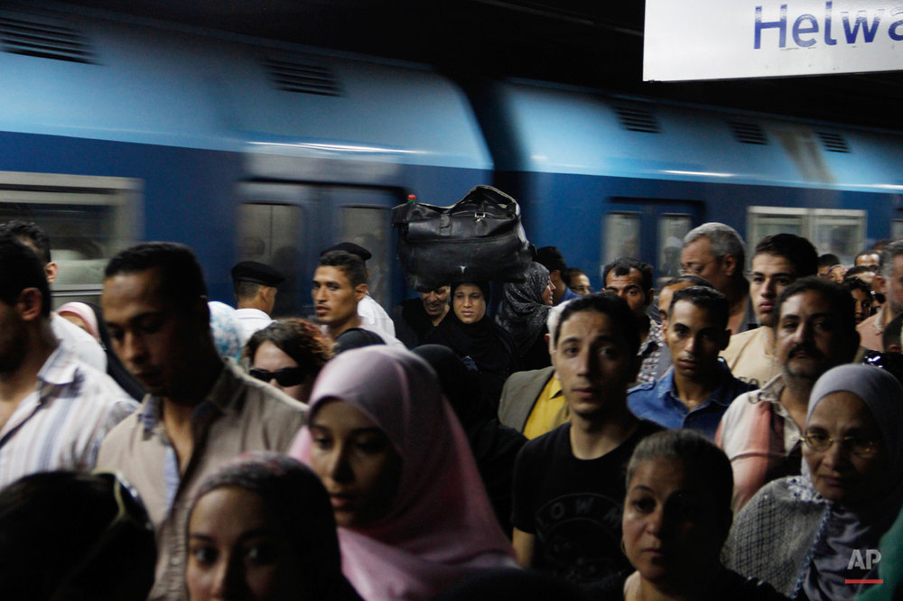 Mideast Egypt Subway Photo Essay