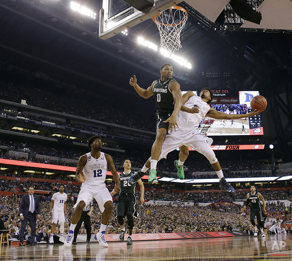 APTOPIX NCAA Michigan St Duke Final Four Basketball