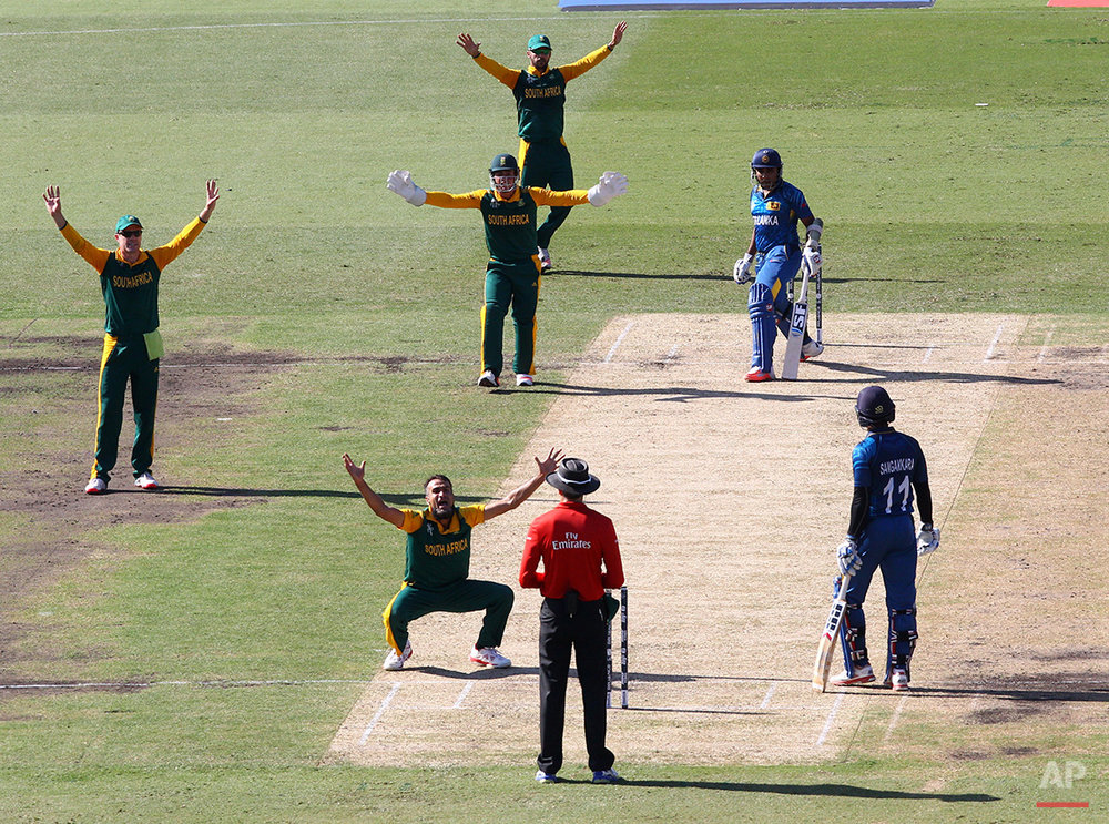 Cricket WCup South Africa Sri Lanka
