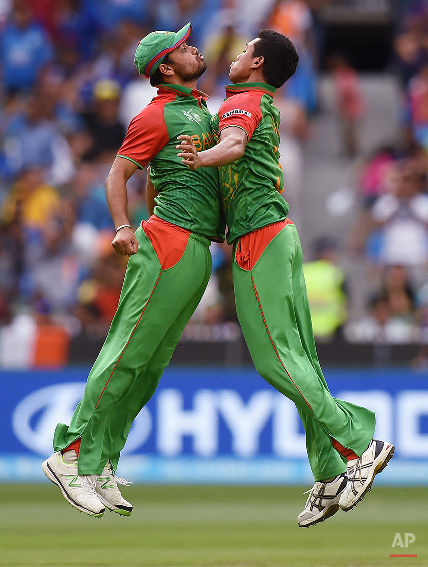 APTOPIX Cricket WCup India Bangladesh