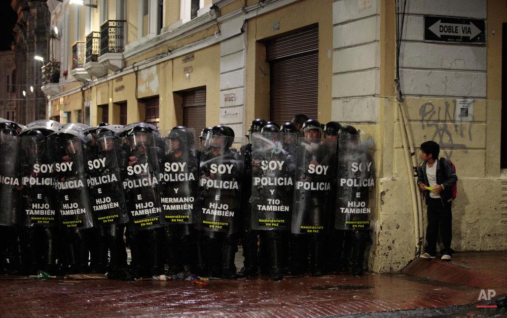 APTOPIX Ecuador Protests