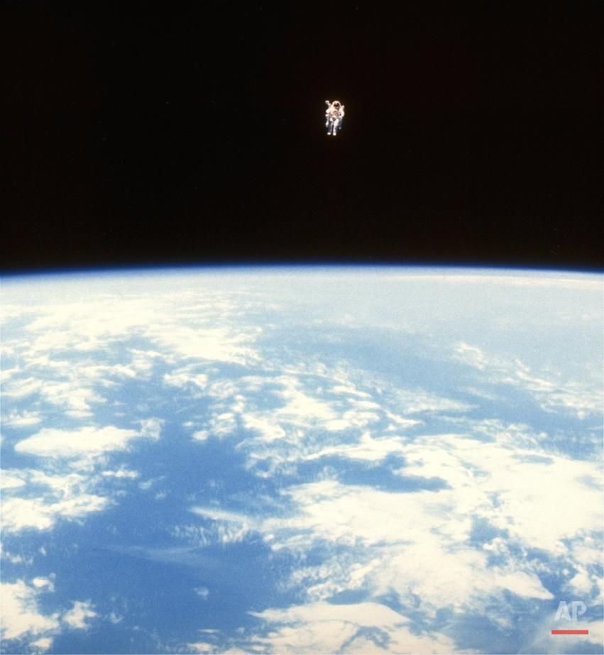 CHALLENGER MISSION SPACE WALK