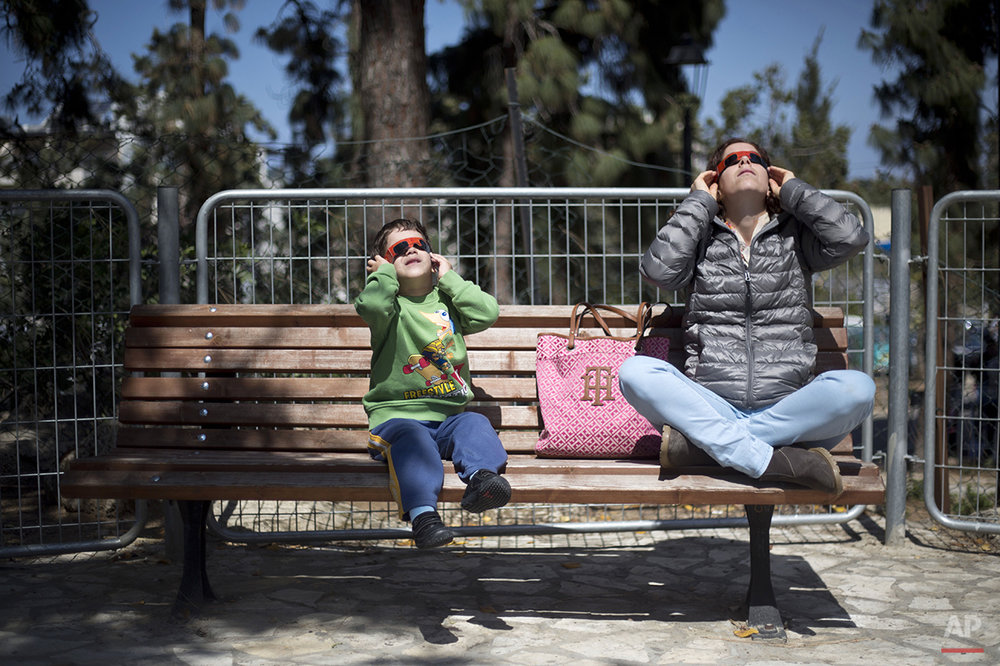 Mideast Israel Solar Eclipse