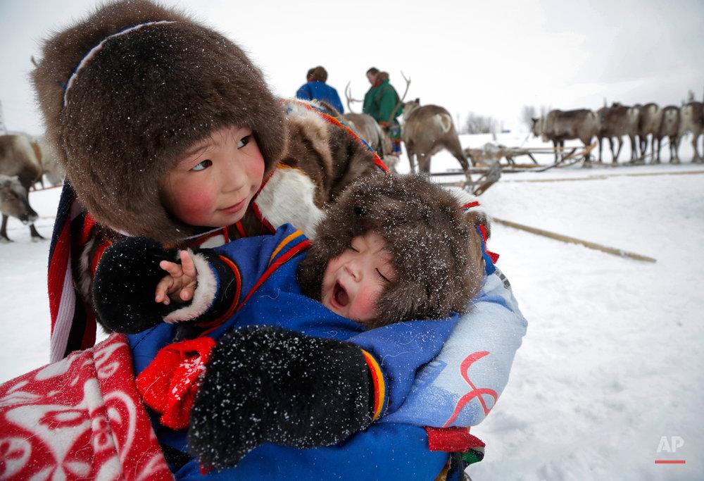 APTOPIX Russia Reindeer Herderís Day
