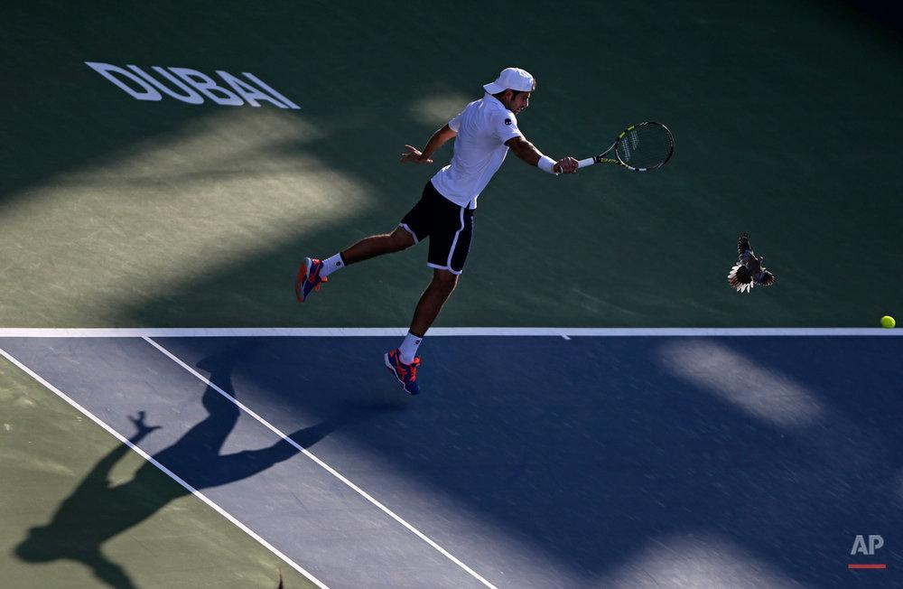 APTOPIX Mideast Emirates Tennis