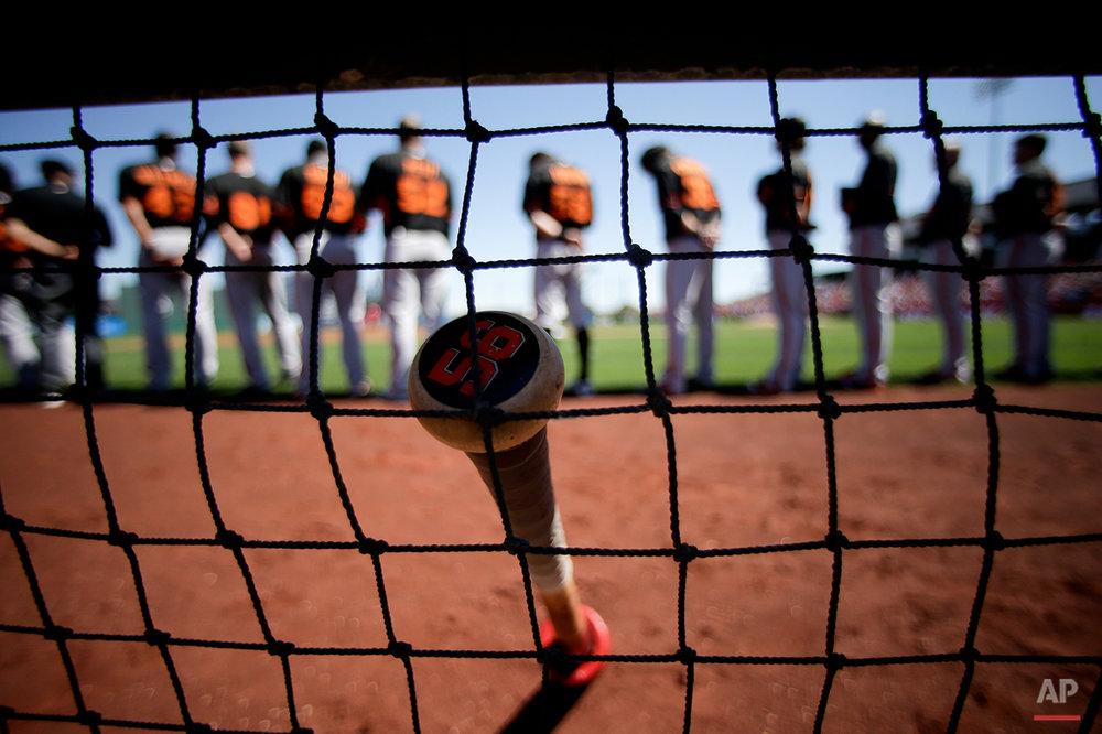 APTOPIX Giants Angels Spring Baseball