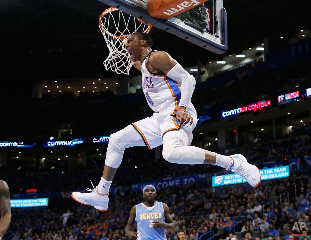 APTOPIX Nuggets Thunder Basketball