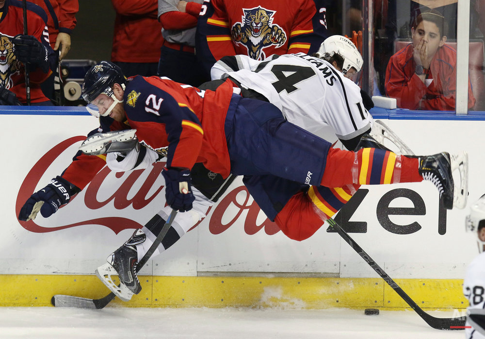 APTOPIX Kings Panthers Hockey