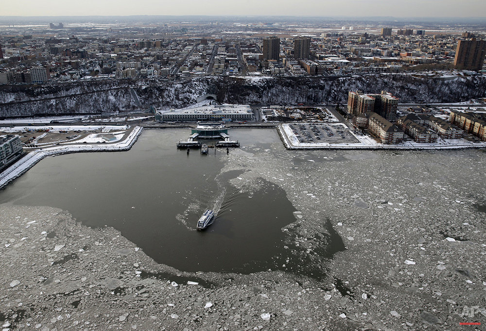 NYC Aerials Winter Weather