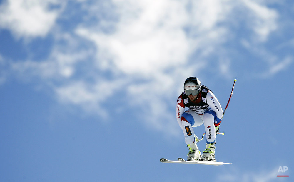 APTOPIX Worlds Mens Alpine Combined Skiing