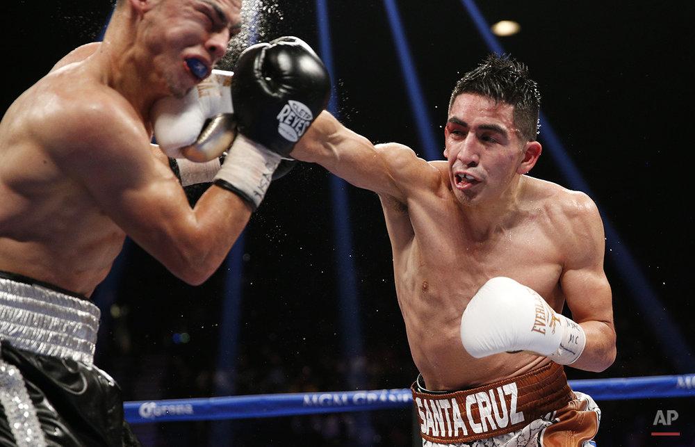 APTOPIX Santa Cruz Ruiz Boxing