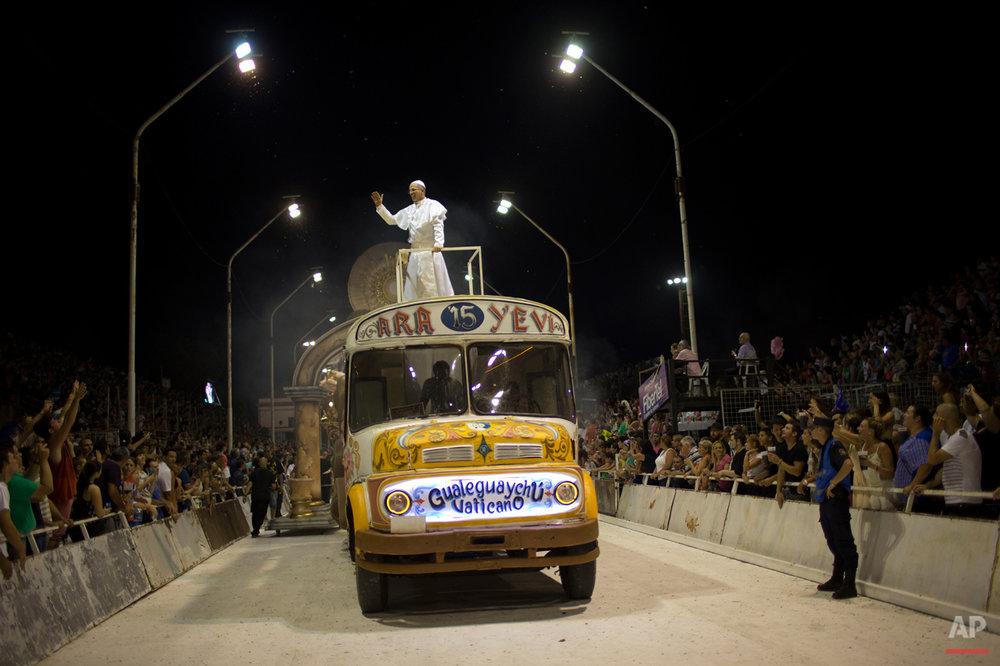 APTOPIX Argentina Pope Carnival
