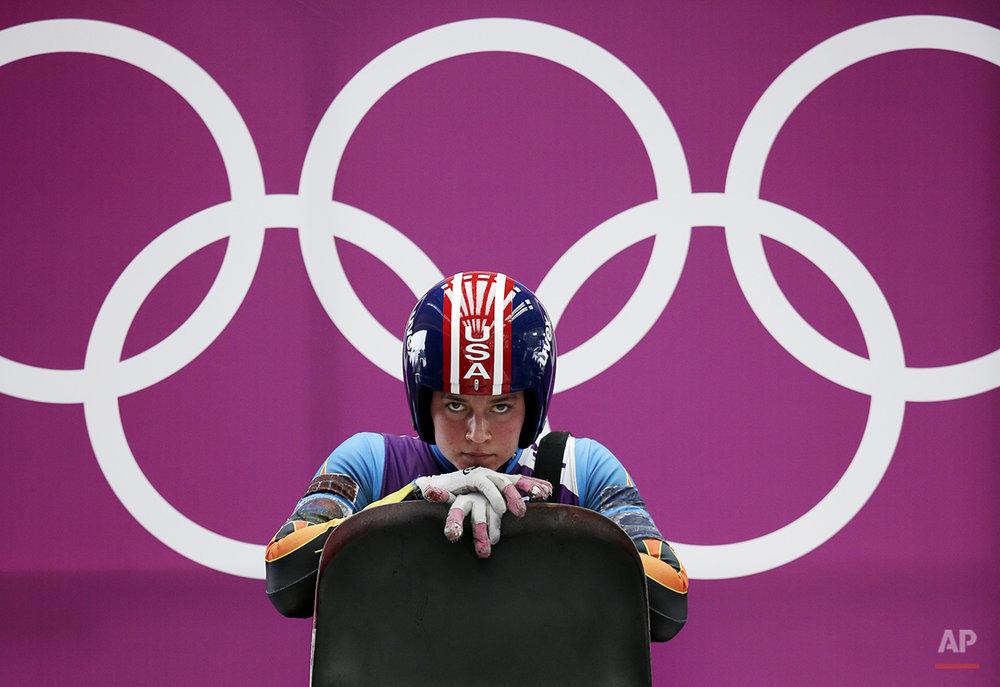 APTOPIX Sochi Olympics Luge Women