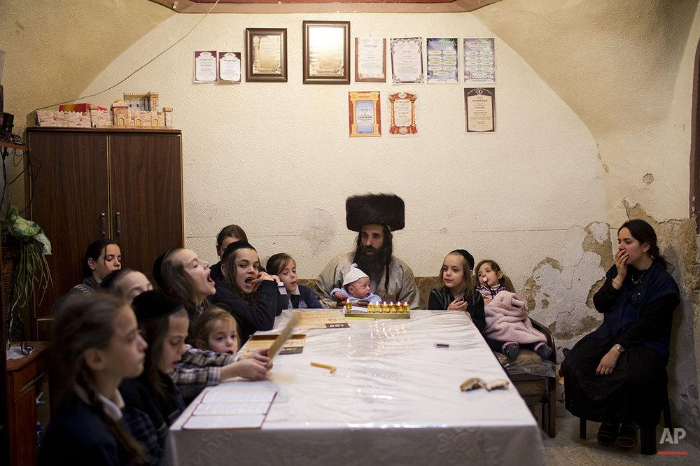 Mideast Israel Hanukkah