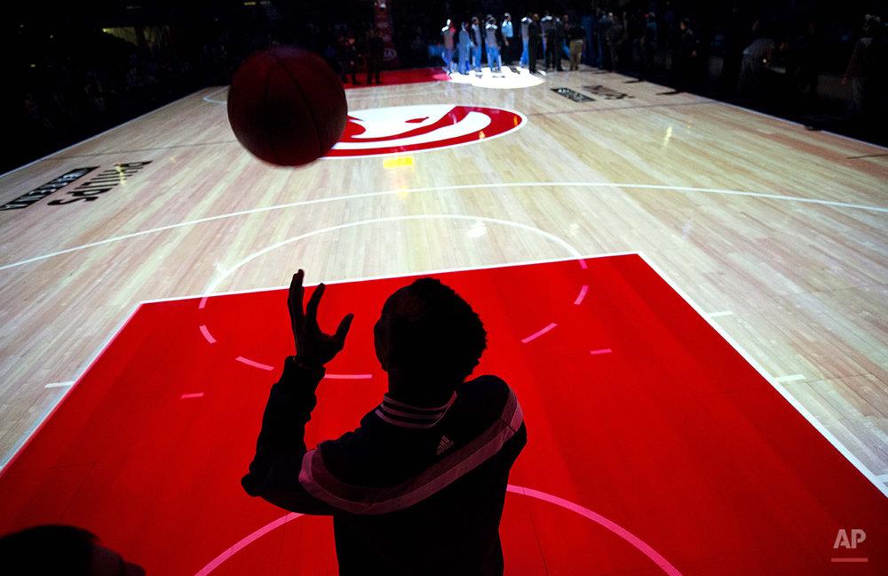 APTOPIX Nuggets Hawks Basketball