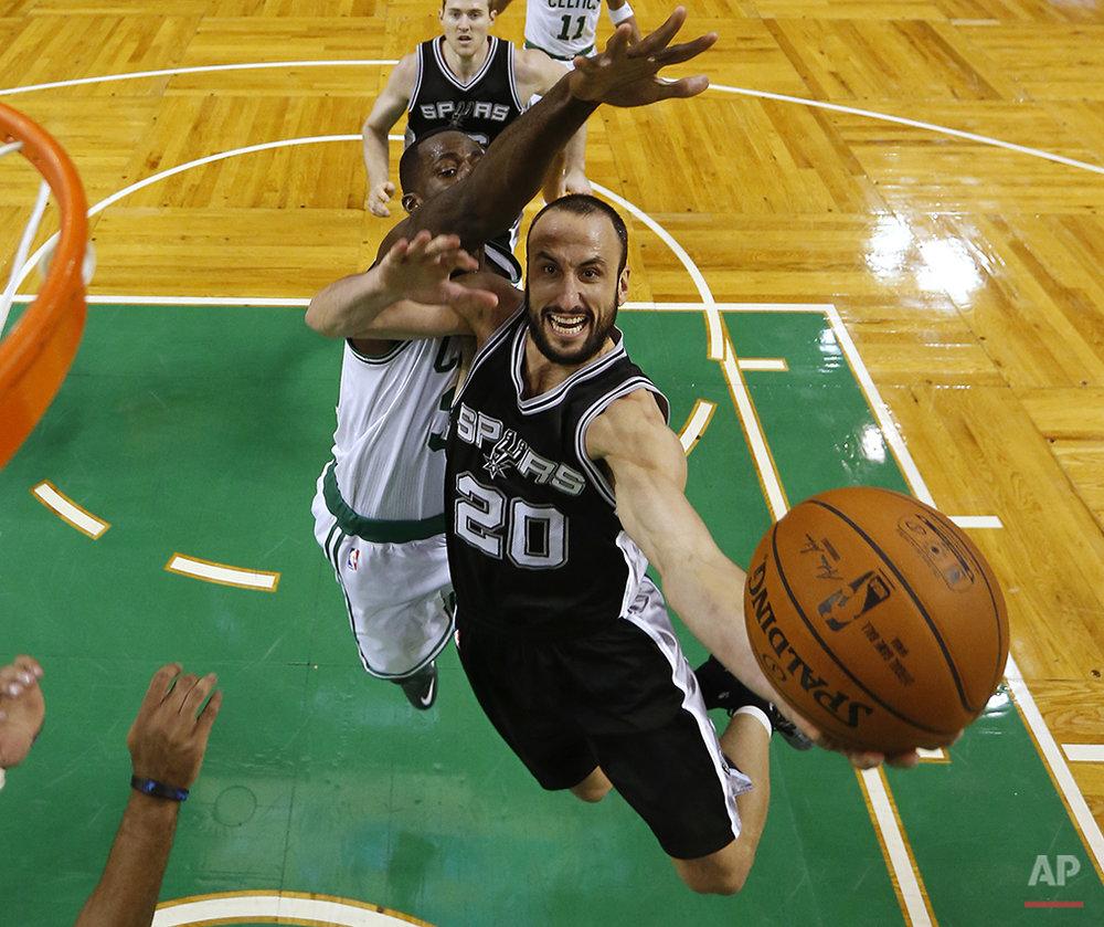 APTOPIX Spurs Celtics Basketball