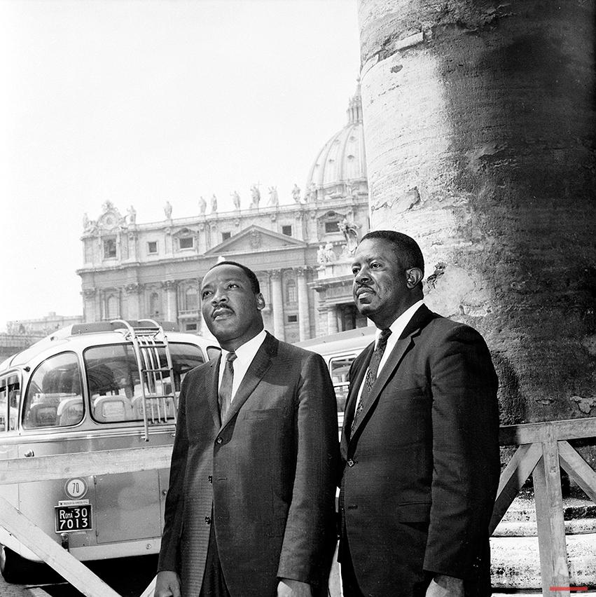 MLK ABERNATHY VISIT ROME