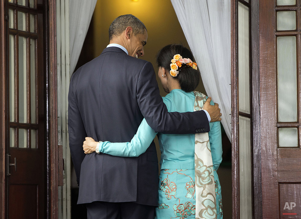 APTOPIX Myanmar Obama