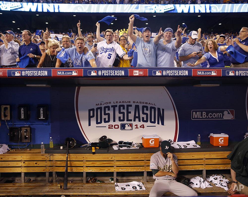 APTOPIX Athletics Royals Baseball