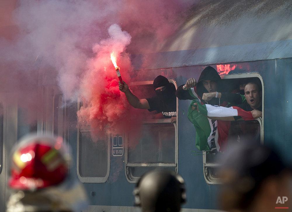 APTOPIX Romania Hungary Euro Soccer