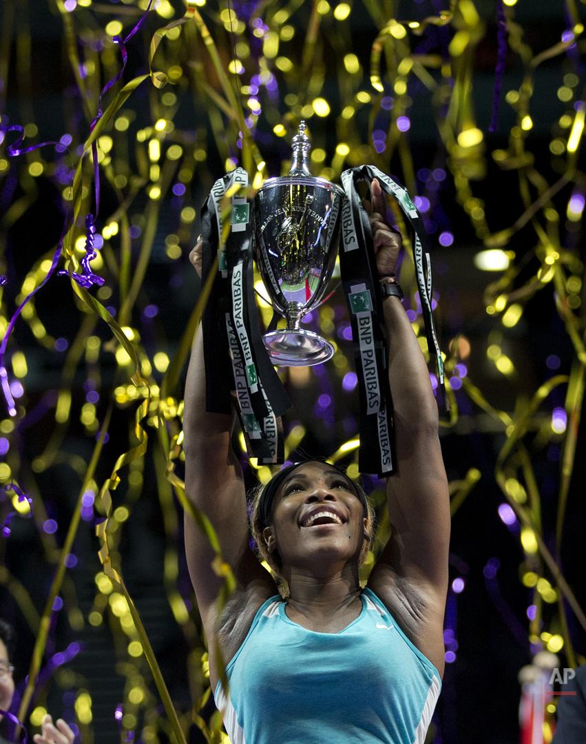 APTOPIX Singapore WTA Finals