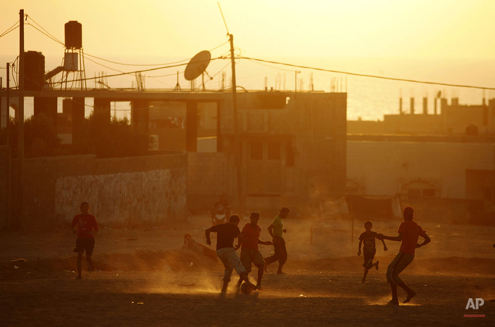 Mideast Palestinians Israel WCup Soccer