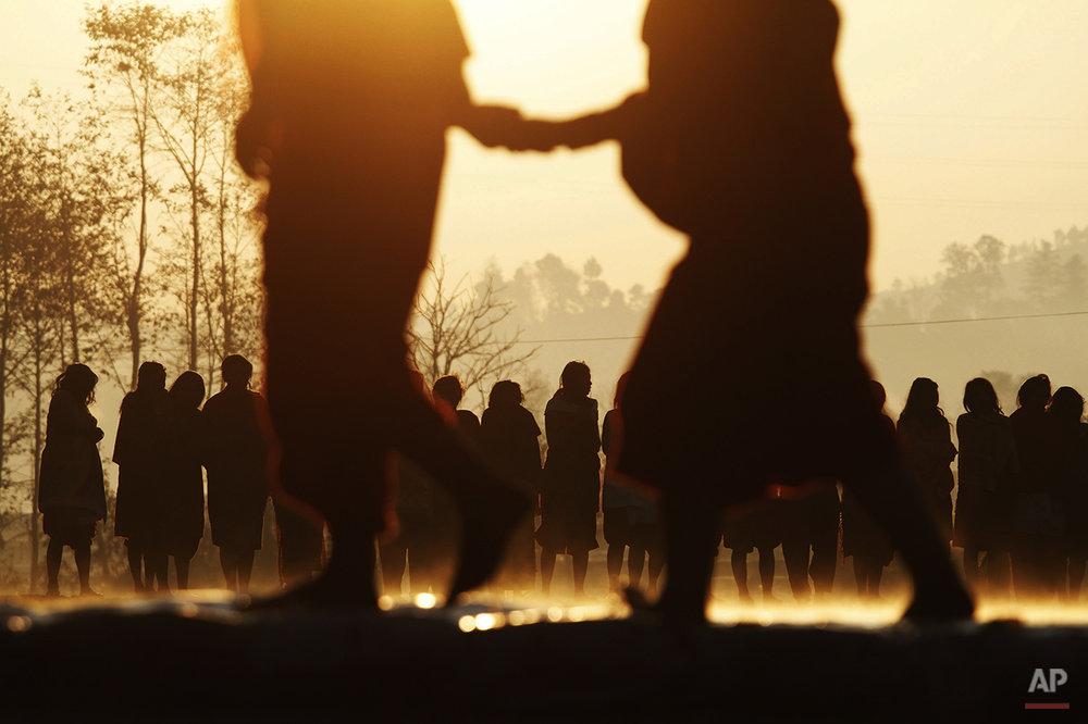 APTOPIX Nepal Festival