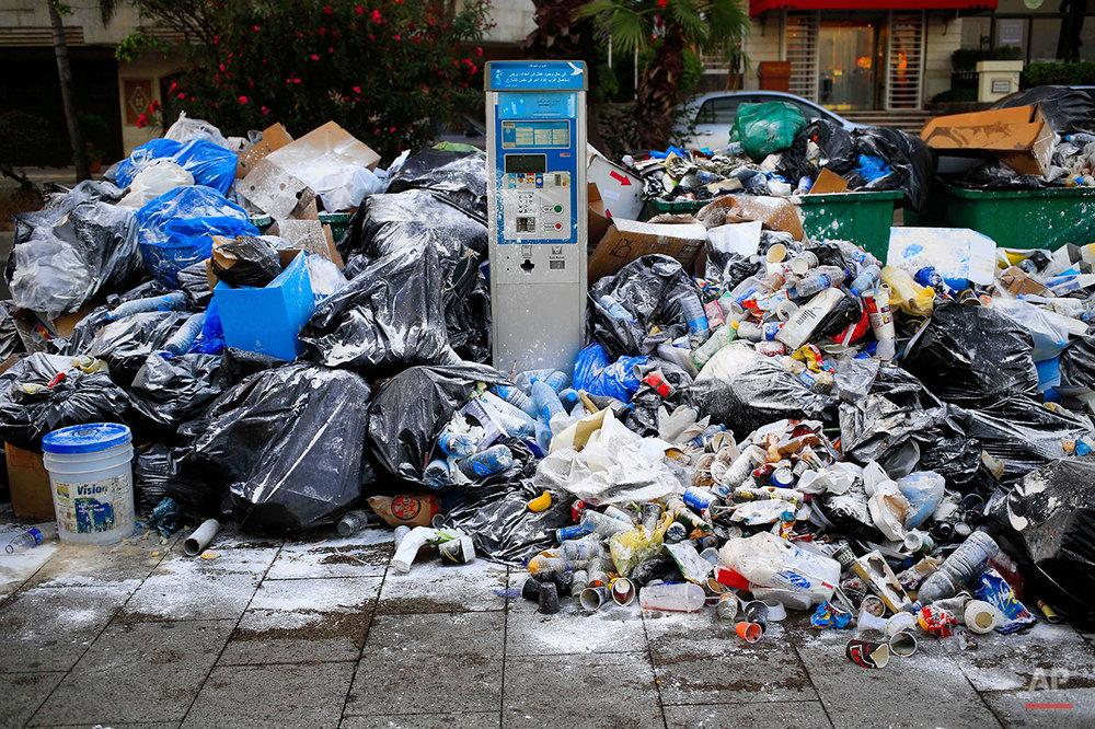 Mideast Lebanon Trash