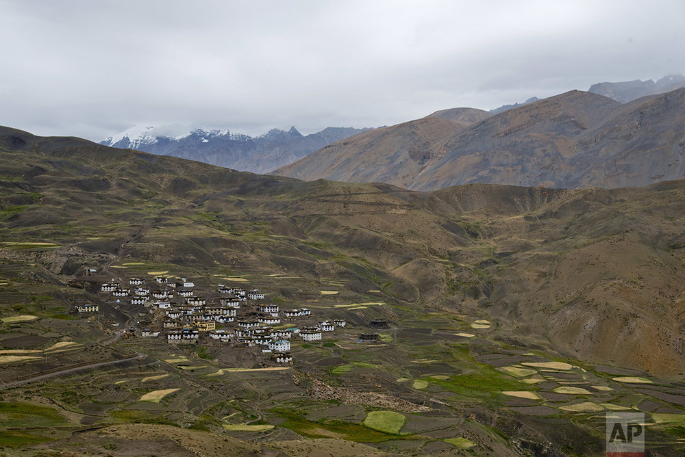 This Aug. 17, 2016, photo shows the mountain village of Demul, in Spiti Valley, India. For centuries, the sleepy valley nestled in the Indian Himalayas remained a hidden Buddhist enclave forbidden to outsiders. (AP Photo/Thomas Cytrynowicz)